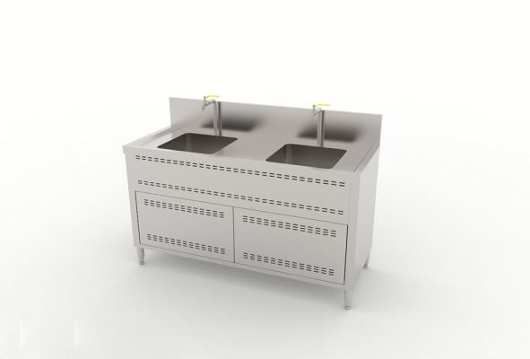 Double Bowl Sink Cabinet Type