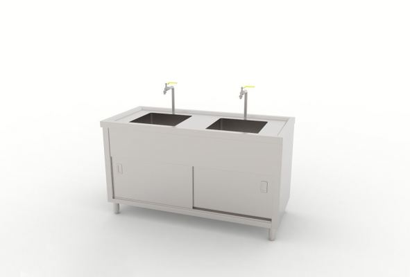 Double Bowl Sink Counter