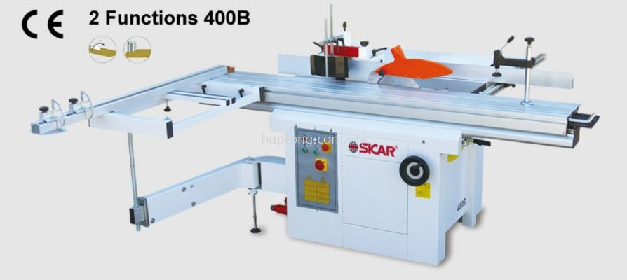 2 Functions 400B Sliding table saw/Spindle moulder