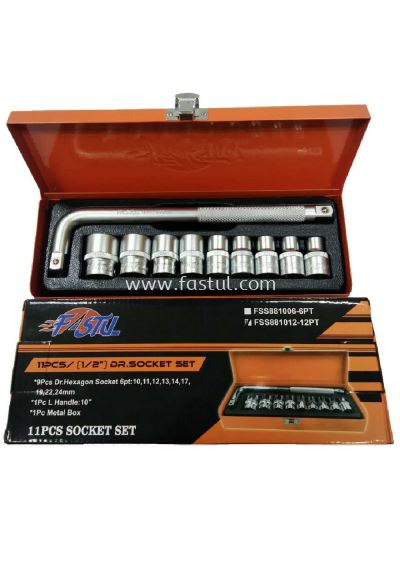 1/2'' Fastul CR-V Box Socket Set