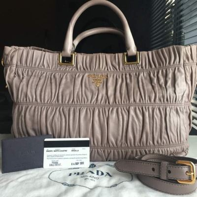 Prada BN2076 Full Leather Nappa Gaufre with Strap