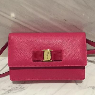 (SOLD) Salvatore Ferragamo Small Sling Bag/Clutch (Chain Removable)