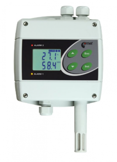 Comet H3060 temperature and humidity regulator with 230Vac/8A relays