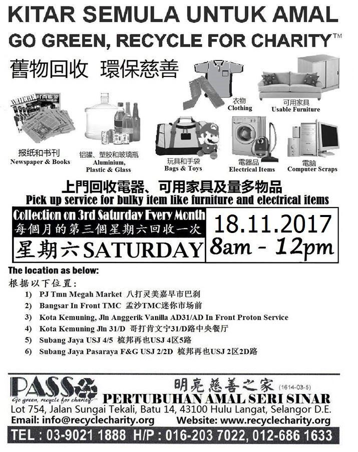 18.11.2017 Saturday P.A.S.S. Mobile Collection Centers