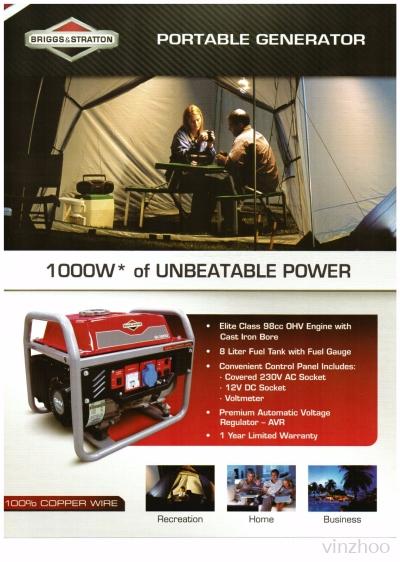 B&S 1000W Portable Generator