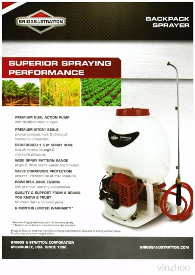 Briggs & Stratton BACKPACK SPRAYER