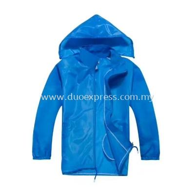Lightweight Hooded Windbreaker Jacket Royal Blue