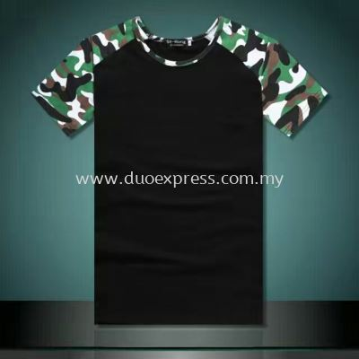 Camou Roundneck T-Shirt Green-Black