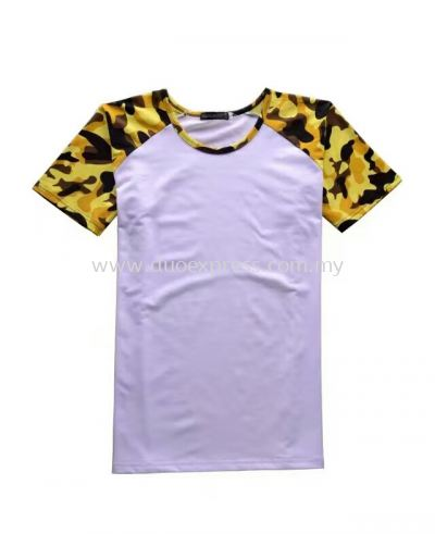Camou Roundneck T-Shirt Yellow