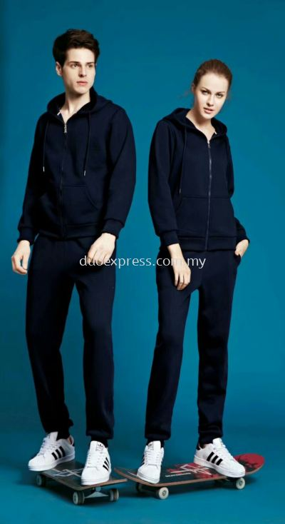 Sweat Hoodies and Pants Navy Blue