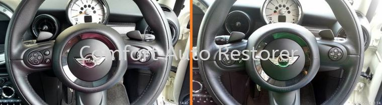 Mini Cooper Multifunction Steering Wheel Buttons Touch-Up Touch-Up & Re-Colouring