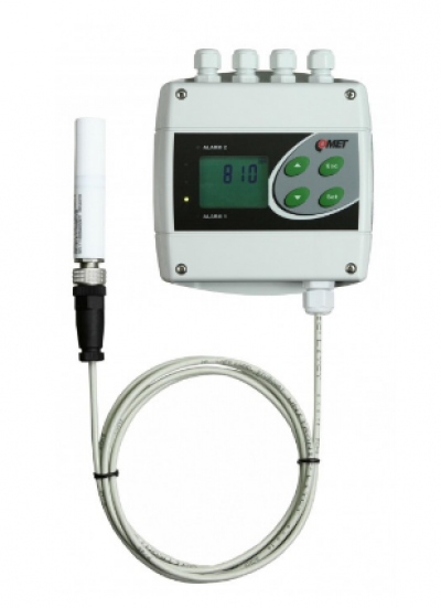 H5321 CO2 concentration transmitter with RS232 and two relay outputs