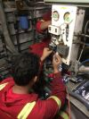 Renew low pressure switch of Air Conditioning Unit (KM Perwira) Ship Repair