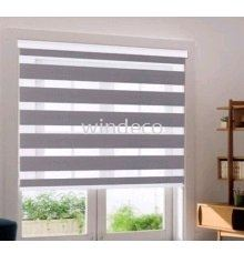 "Zebra Blinds (Grey) - Size: 35"" (W) x 78"" (H)"