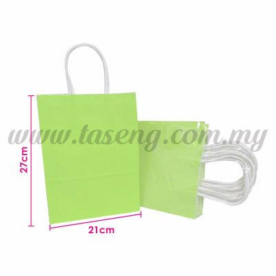 Paper Bag - Lime Green *10pcs (RPB-P2L-LG)