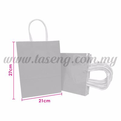Paper Bag - Grey *10pcs (RPB-P2L-GY)