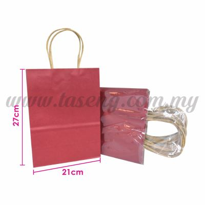 Paper Bag - Maroon *10pcs (RPB-P2L-MR)