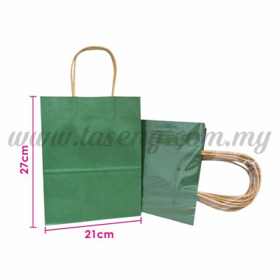 Paper Bag - Green *10pcs (RPB-P2L-GN)