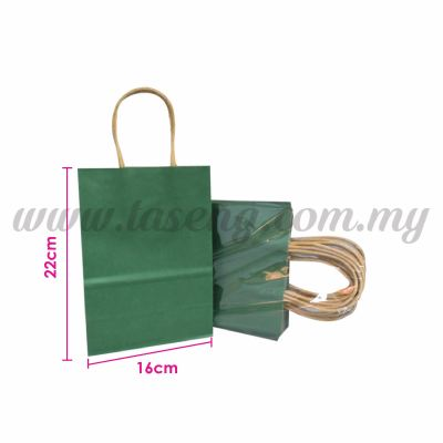 Paper Bag Small - Green *10pcs (RPB-P2S-GN)