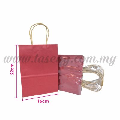 Paper Bag Small - Maroon *10pcs (RPB-P2S-MR)