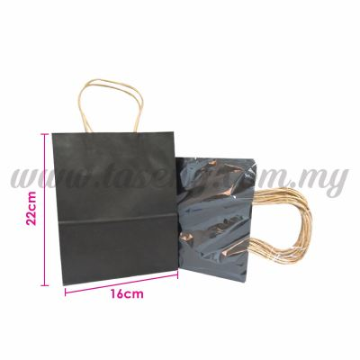 Paper Bag Small - Black *10pcs (RPB-P2S-BL)