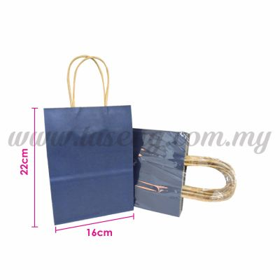 Paper Bag Small - Dark Blue *10pcs (RPB-P2S-DB)