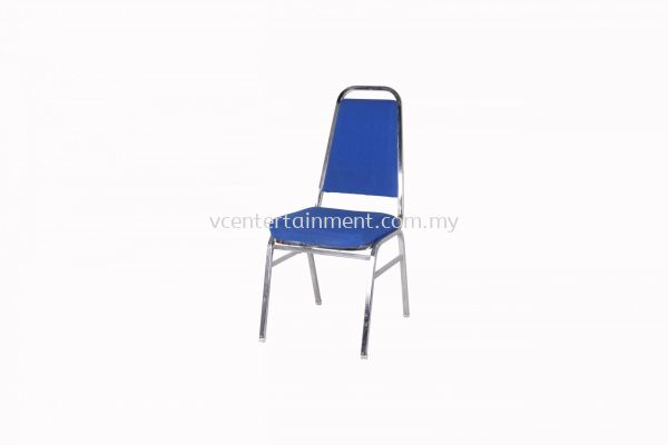 Banquet Chair with Blue Cushion