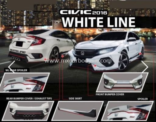 2016 HONDA CIVIC FC WHITE LINE BODYKIT