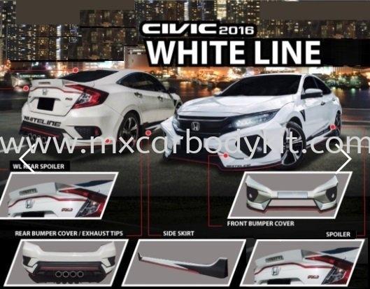 2016 HONDA CIVIC FC WHITE LINE BODYKIT CIVIC FC 2016 HONDA