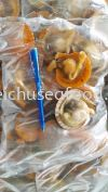 Half Shell Golden Scallop Frozen Clam
