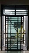 Mild Steel 2 Panel Sliding Door with 2 key Mild Steel Door and Window Door and Window