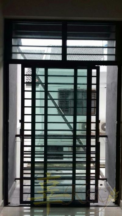 Mild Steel 2 Panel Sliding Door with 2 key