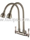 11-878 SUS 304 Flexible Twin Sink Tap Stainless Steel Tap Series 8 Dolfino Water Tap Plumbing