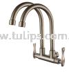 11-868 Wall Twin Sink Tap Stainless Steel Tap Series 8 Dolfino Water Tap Plumbing