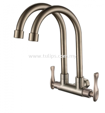 11-868 Wall Twin Sink Tap