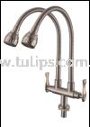 11-879 SUS 304 Flexible Twin Sink Tap Stainless Steel Tap Series 8 Dolfino Water Tap Plumbing
