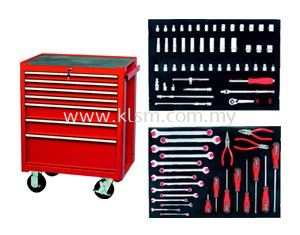 KENNEDY KEN-595-5500K 75PCS SET WITH PROFESSIONAL ROLLER CABINET