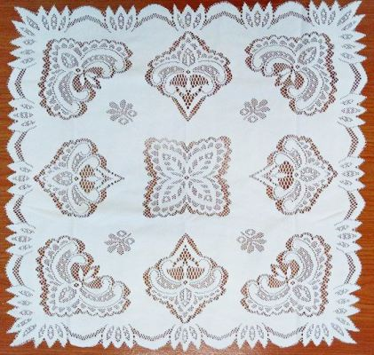 "Table Cloth ""24×24"" White"
