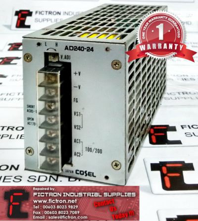 AD240-24 AD24024 COSEL POWER SUPPLY UNIT REPAIR SERVICE IN MALAYSIA 12 MONTHS WARRANTY