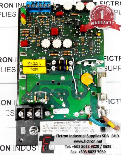 A11750A000 DANFOSS ELECTRONICS CONTROL PCB BOARD REPAIR SERVICE IN MALAYSIA 12 MONTHS WARRANTY