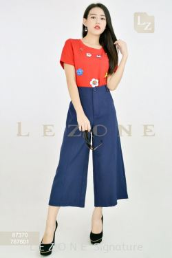767601 PLUS SIZE SIDE POCKET CULOTTES【1st 50%  2nd 60%  3rd 70%】