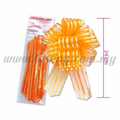 50mm Pull Flower Ribbon - Orange 1 Piece (RB-1PF50-OR)