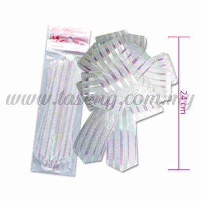 50mm Pull Flower Ribbon - White 1 Piece (RB-1PF50-W)