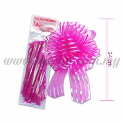50mm Pull Flower Ribbon - Magenta 1 Piece (RB-1PF50-MA)