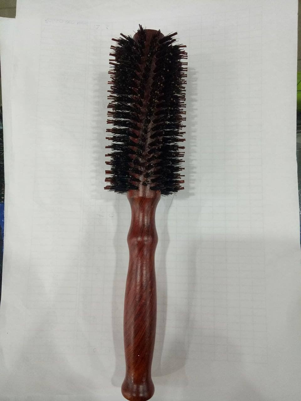 Lisse No.9 Roll Hair Brush with Wood Handle