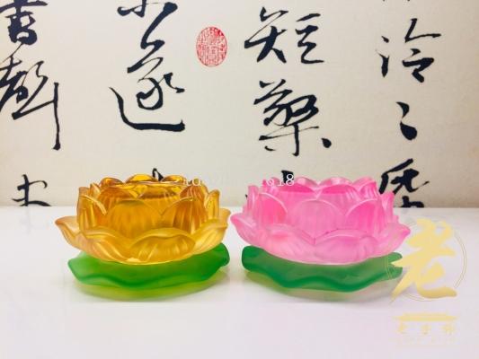 新花琉璃酥油杯