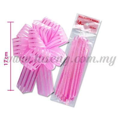 30mm Pull Flower Ribbon - Pink 1 Piece (RB-1PF30-P)