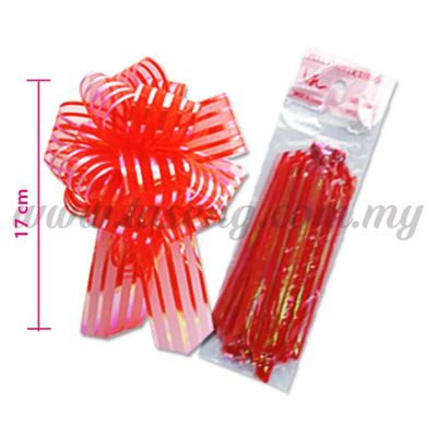 30mm Pull Flower Ribbon - Red (RB-1PF30-R)
