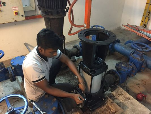 Water Pump Installation and Fixing