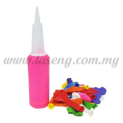 Hand Pump Neon with 7inch Heart Shape Balloon 20pcs (BP-HPH20)